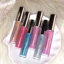 Holographic Glitter Lip Gloss Polarized Lipgloss Mermaid Laser Liquid Lipstick Crystal Glow Kit Multipurpose Face Eye Lip Makeup