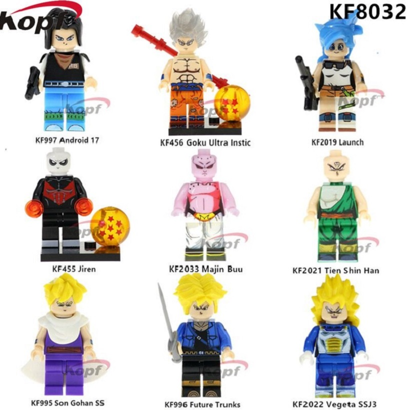 KF8032 Super Heroes Dragon Ball Z Figures Son Gohan SS Majin Buu Future  Trunks Vegeta Building Blocks Action Children Gift Toys cb1444d2bea2