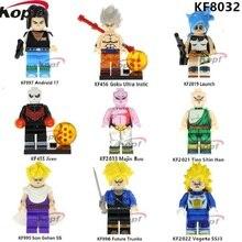KF8032 szuperhősök Dragon Ball Z figurák Son Gohan SS Majin Buu Future Trunks Vegeta Építőelemek Akció Gyermek Ajándék Játékok