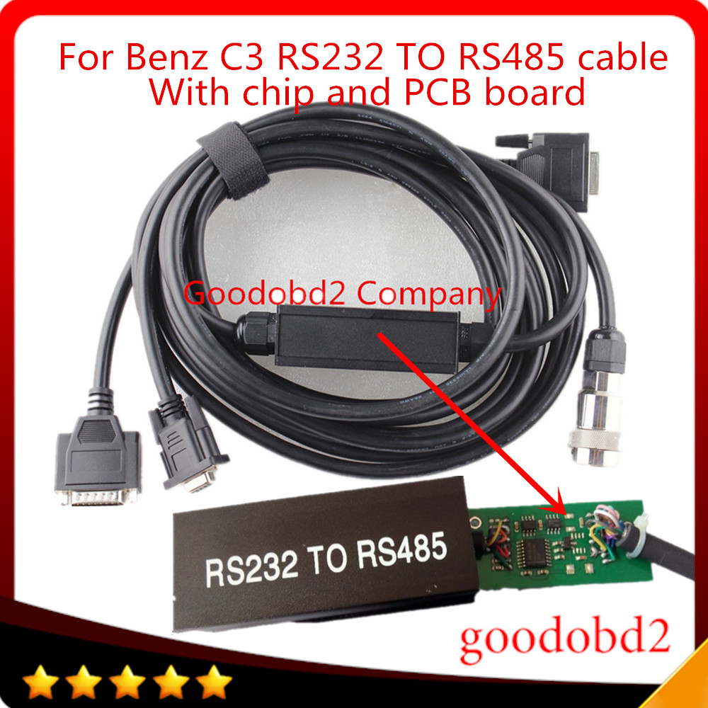C3 Car Obd2 Cable And Connector Rs232 To Rs485 Cable For Mb Star C3 For Multiplexer Car Diagnostic Tools Cable With Pcb Board Sale Price