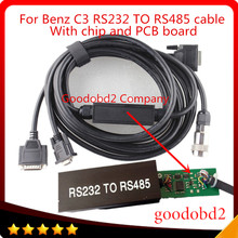 цена на Car OBD2 Cable and Connector RS232 to RS485 Cable for MB STAR C3 for Multiplexer Car Diagnostic Tools Cable  free shipping