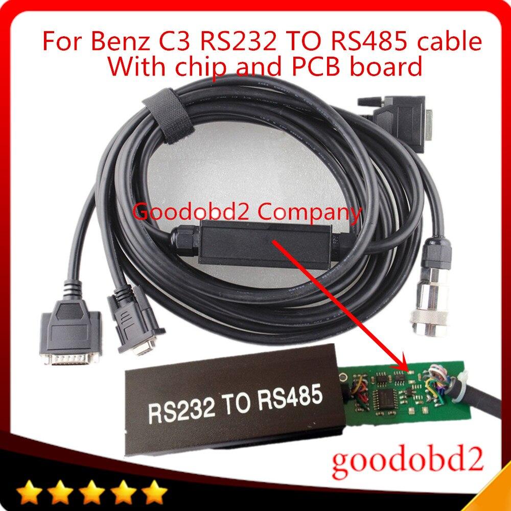 Prix pour C3 Voiture OBD2 Câble et Connecteur RS232 à RS485 Câble pour MB STAR C3 pour Multiplexeur De Voiture Outils De Diagnostic Câble avec pcb conseil