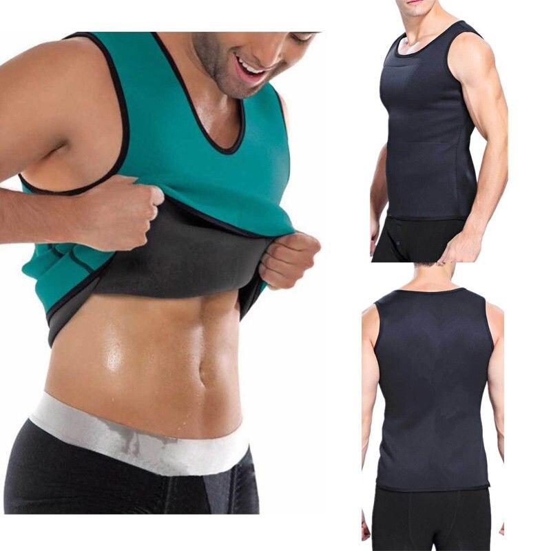 2019 Men Body Slimming Tummy Shaper Belly Underwear Shapewear Waist Girdle Tee Shape Body Vest Shapers Dropshipping Size S-XXXXL