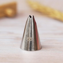 #68 Small Size Leaves Nozzle Stainless Steel Cream Cup Cake Decorating Icing Piping Tips Pastry Tools Bakeware