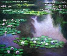 Water Lilies (green and violet) by Claude Monet Handpainted