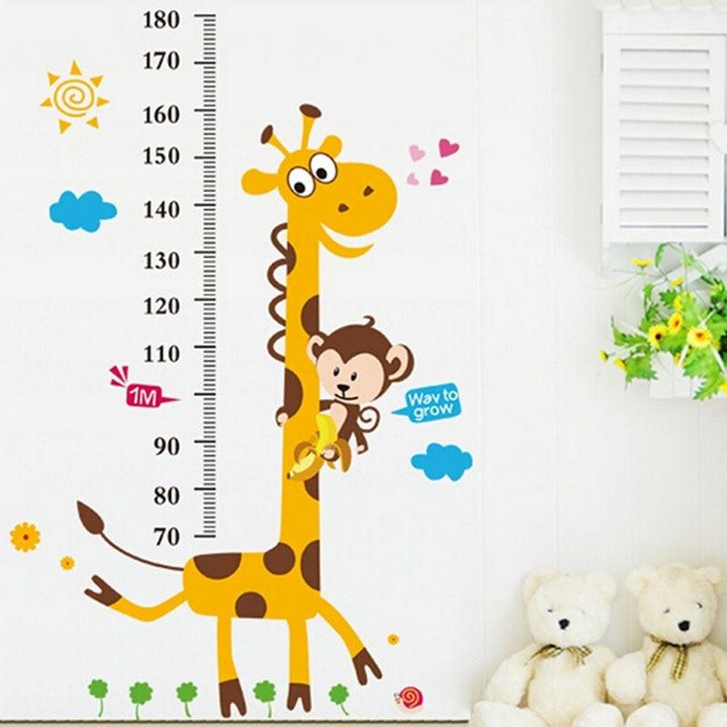 altura gobernante etiqueta decoracin del hogar wallpaper vinilos paredes kids altura grfico etiqueta de la pared