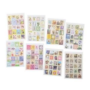 Image 1 - Pegatinas de sellos plegables Vintage, 30 paquetes por lote, etiqueta adhesiva multifunción DIY, decoración romántica para el hogar, varios estilos al por mayor