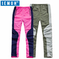 IEMUH Ultrathin Breathable Summer Trousers Outdoor Camping Hiking Pants Men Women Removable Trousers Climbing Trekking Pants