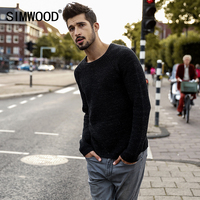 SIMWOOD 2018 Sweater Men Slim Fit Fashion Knitted Pullovers O Neck Casual Pull Plus Size High