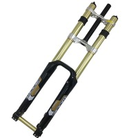 Zoom Fork Mountain bicycle MTB 680 DH Downhill Suspension fork 26 for Bike 26 Travel 180mm Mountian bike Fork
