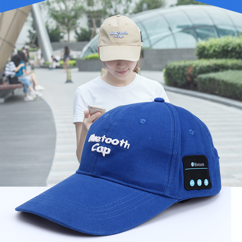 New Summer Earphone Hat Wireless Headphones Smart Sports Cap Baseball Headset Speaker Mic Bluetooth Headset Hat Knitting Cap v4 0 edr bluetooth baseball hat