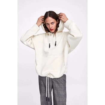 YOCALOR Women Harajuku Cotton Hoodies Solid Patchwork Pockets Regular Oversize Sweatshirt Plus Size Tops Hoodies 3