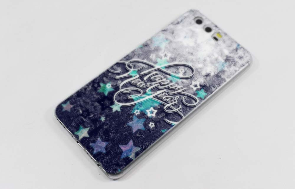 Merry Christmas Pattern Hard Transparent Case Cover Coque For Huawei P8 P9 P10 Lite Plus P7