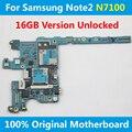 Para oficial samsung galaxy note 2 n7100 motherboard 16 gb desbloqueado placa lógica mainboard com fichas oficiais 100% bom trabalho