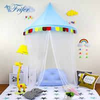 Children Reading Corner Tent Crib Netting Palace Bedroom Bed Curtain Kids Girls Mantle Mosquito Net Tents Decorative Canopy