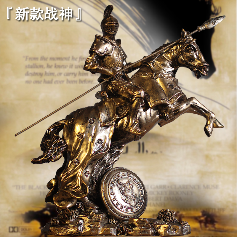 Vintage Abstract Roman Armor Warrior Resin Sculpture Medieval Samurai Knight Battle Horse Statue Home Decoration Accessories Vintage Abstract Roman Armor Warrior Resin Sculpture Medieval Samurai Knight Battle Horse Statue Home Decoration Accessories
