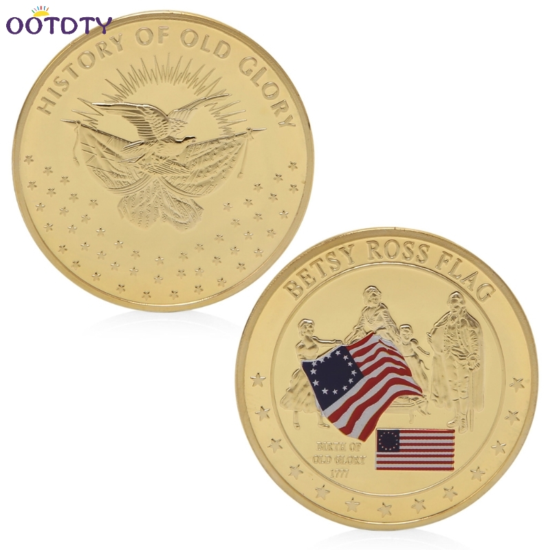 Old US Coin Values American Flag Designer Betsy Ross Gold Coin Collection