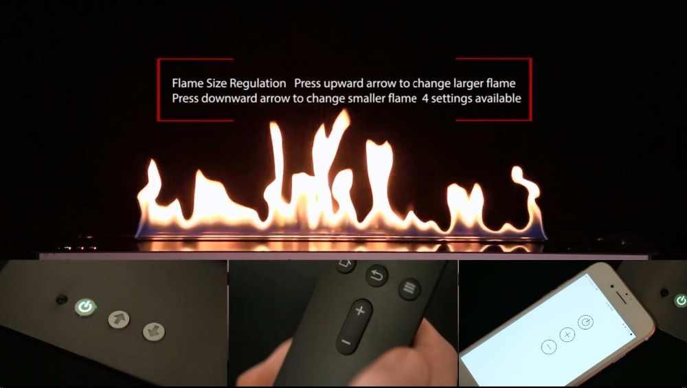 Dijual 48 Inch Etanol Cerobong Asap Wifi Remote Control Etanol Lubang Api Insert