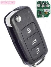 HXLIWLQLUCKY 3 button Flip remote key 315mhz 48 chip 1K0959753Q for vw key Free shipping