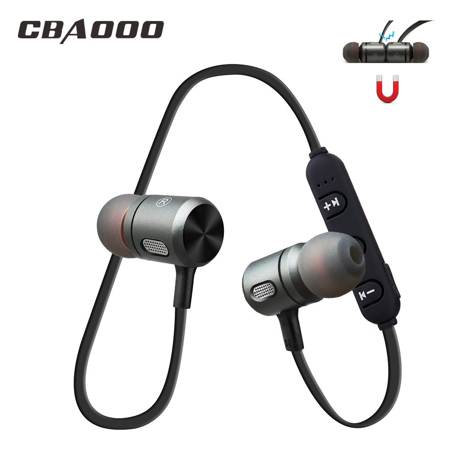 Wireless Bluetooth Earphone C10 Earbuds Headset Sport Bass Stereo bluetooth earpiece Metal magnet Mic Headsets for xiaomi iphone
