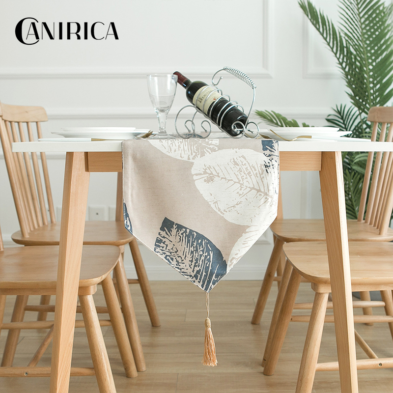CANIRICA Table Runner Tropical Table Runners Modern Wardrobe Flag Tafelloper Luxury Decor Table Runners Kitchen Decoration Gift