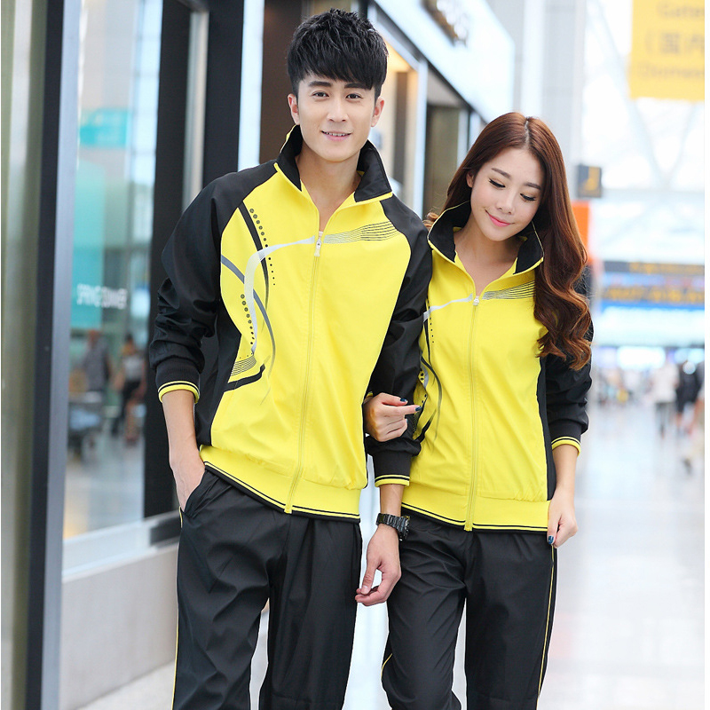 Men's sportswear suit men and women Spring and Autumn couple sports running suit, personality for training clothes