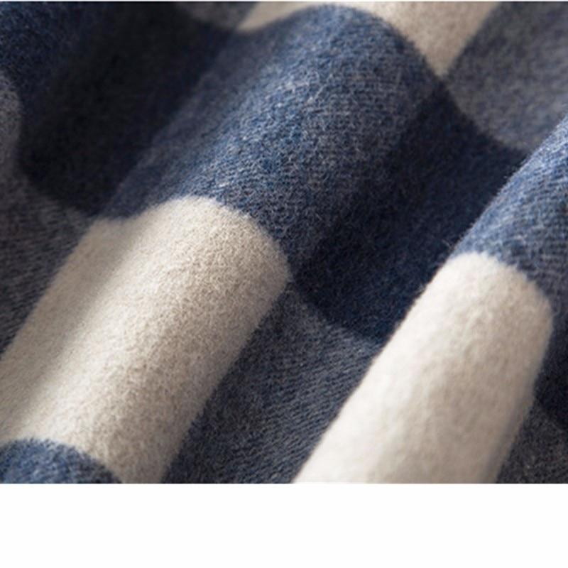 Plaid blue Manteau De Hiver Coffee Chaud 2018 Beige Laine Mode Longue Blue Haute Cachemire Femmes Épaississent Wyf153 Tranchée plaid Mélange Qualité Veste plaid qwxPO0BUSX