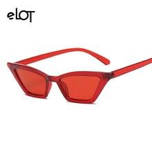 ELOT 2018 Novo Designer Da Marca Sexy Vintage Retângulo Gato Olho Óculos De Sol  Mulheres UV400 Retro Pequenos Óculos de Sol Da M.. a7f2161a9c