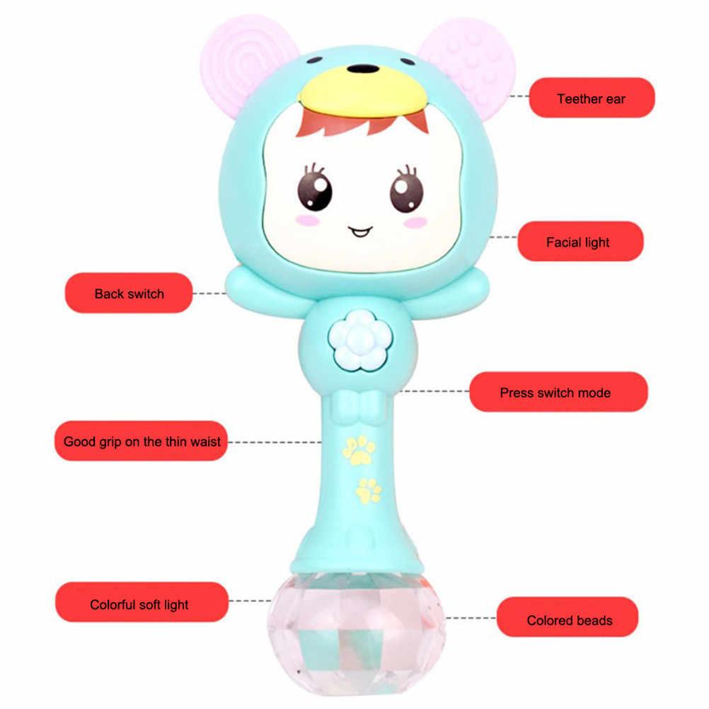 ベビーガラガラ 4 1 で音楽砂のハンマーのおもちゃベビーおもちゃ点滅教育のおもちゃアーリーラーニングおもちゃ