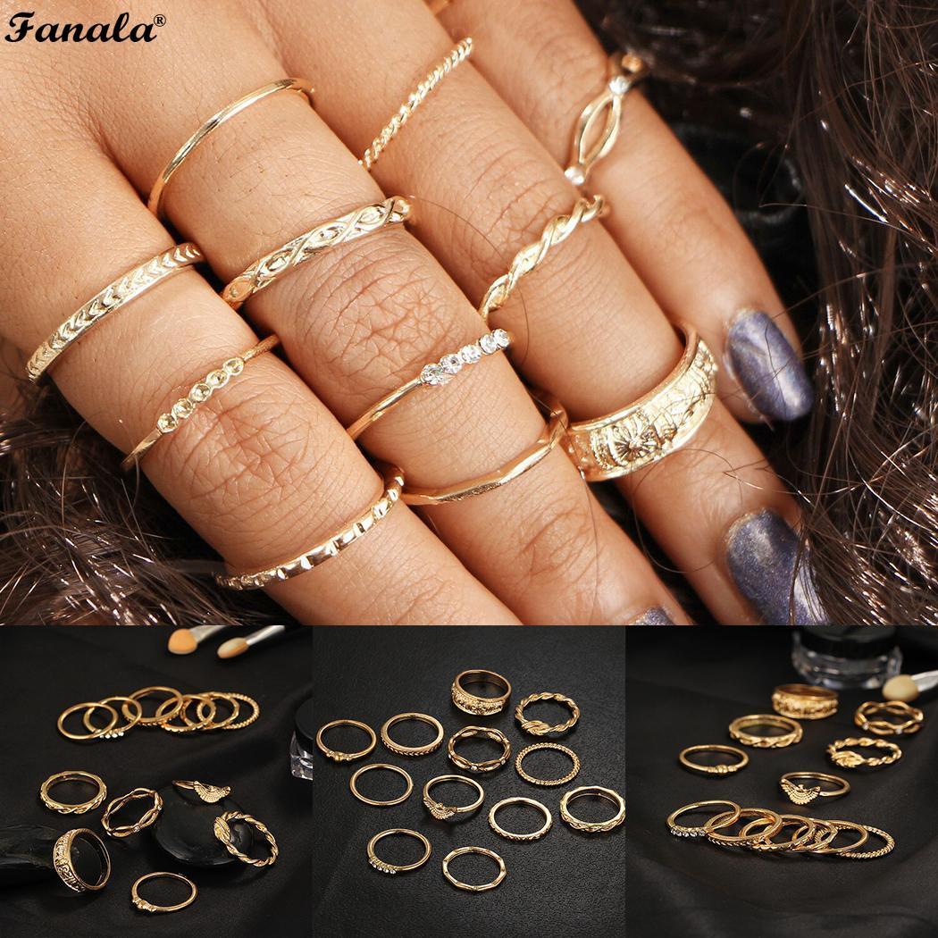 Shape Ring Rhinestone Women Alloy Fashion Geometric