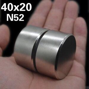 Image 4 - 2pcs Magnete Al Neodimio N52 40x20mm Super Strong Rotonda terra Rara di NdFeB Potente Gallio metallo altoparlante magnetico n35 40*20 millimetri Disco