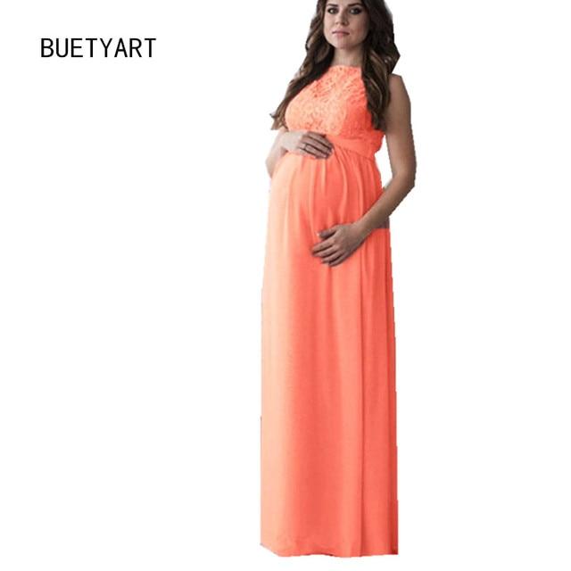 608ca2ee562c4 BUETYART Women Mesh Gown Maternity Maxi Dress Long Sleeve Sexy Nightdress  Pregnancy Party Dresses Photography Prop Clot
