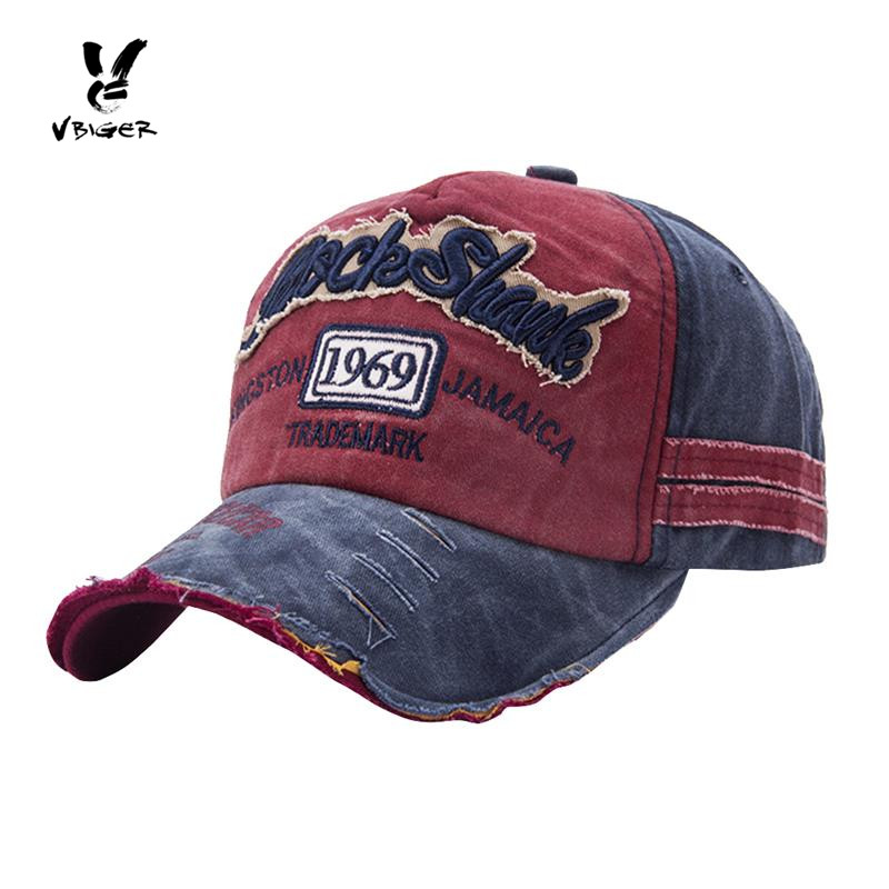 Vbiger Men Women Ripped Baseball Cap Peaked Cap Chic Baseball Hat Trendy Outdoor Sun Hat