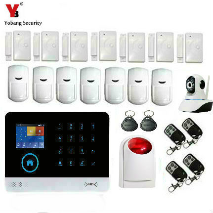 Yobang Security Wireless WIFI Fire Smoke Detector Alarm System Alarm System Wireless Siren IP Camera sensor APP remote control yobang security app remote control home office security wireless outdoor siren alarm system wireless smoke detector franch dutch