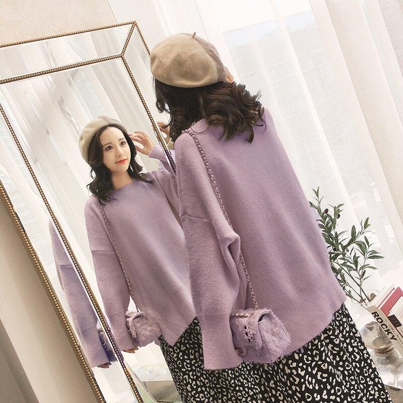 Paresseux Pulls Tricoté Chart Automne Lâche Tops see Solide See Chart 2018 Chandails Manteau Femmes Outwear Hiver Nouvelle Vent KF3JclT1