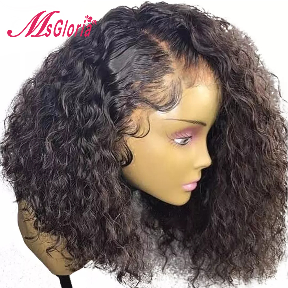 360 Lace Frontal Wig For Women Black Color Brazilian Remy Curly Lace Front Human Hair Wigs
