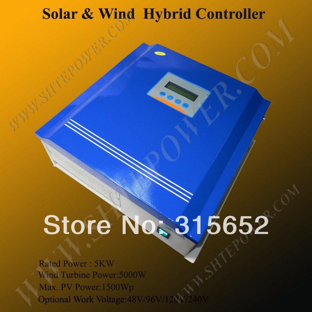 5000W 120V Wind and solar hybrid Charge Controller regulator 5kw 120v wind turbine generator 5000w hybrid wind charge controller solar 48v 5kw