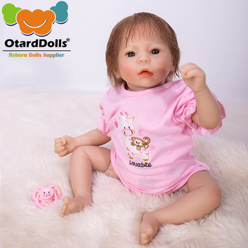 OtardDolls 48cm bebe bonica reborn dolls Lifelike cute baby girl with Colored skirt silicone Bonecas Bebe Reborn baby dolls