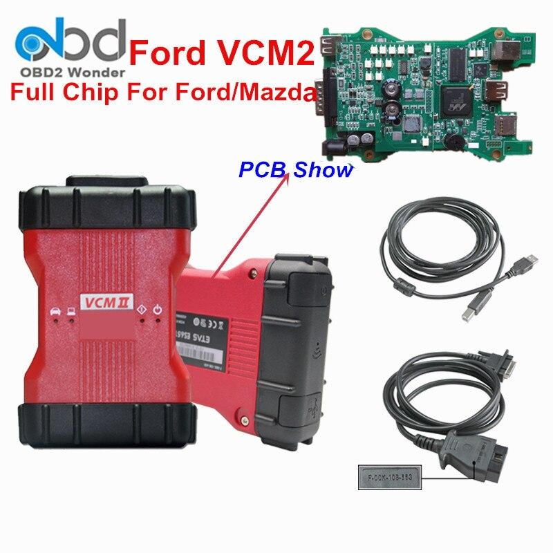 Цена за Новый Ford VCM 2 диагностический сканер для Ford с полной чип Профессиональный Для Ford VCM2 диагностики инструмент программирования DHL Бесплатная доставка