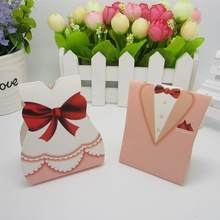 100pcs Creative Chocolate Packaging Boxes Wedding Favours Candy Boxes FOR Wedding(China)