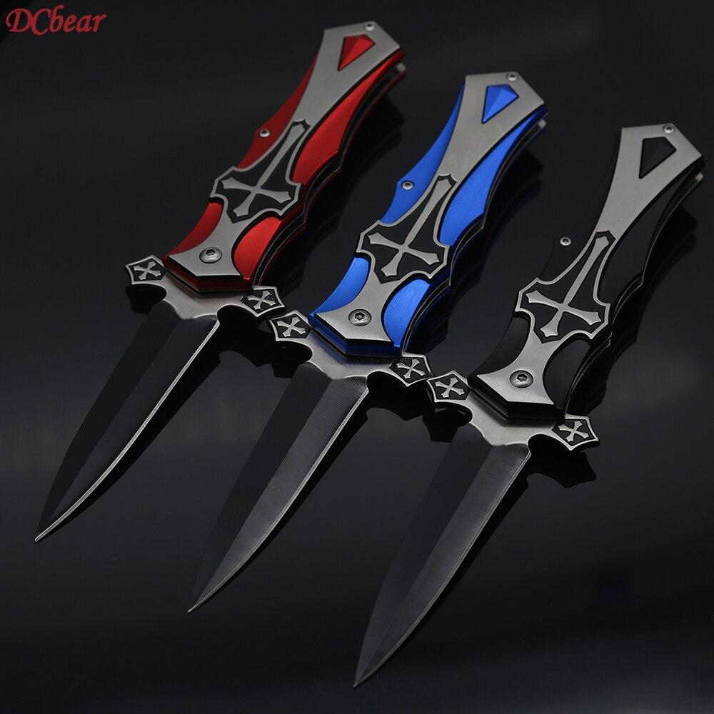 Dcbear Tactical Survival Folding Pocket Knives 3Cr13 Black Blade Utility Camping Hunting Knife Outdoor EDC Multi Knife Tools  цены