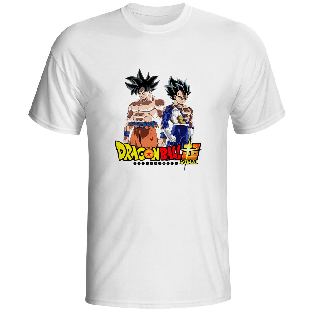 Dragon Ball Super Son Goku And Vegeta Ultra Instinct T-shirt Anime Cartoon Hip Hop Skate T Shirt Cool Pop Rock Women Men Top Tee