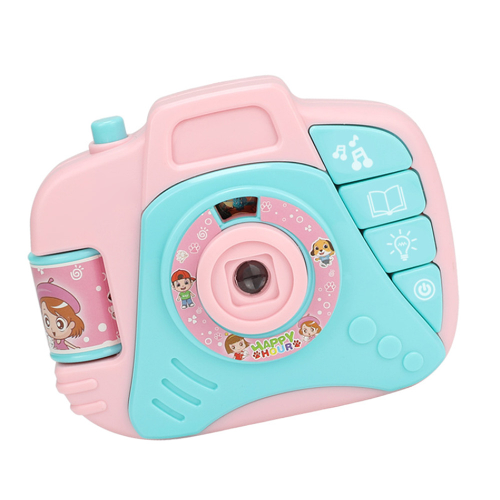 Children Electric Mini Simulation Sound And Light Projection Camera Toys Baby Cartoon Plastic Educational Toys For Children