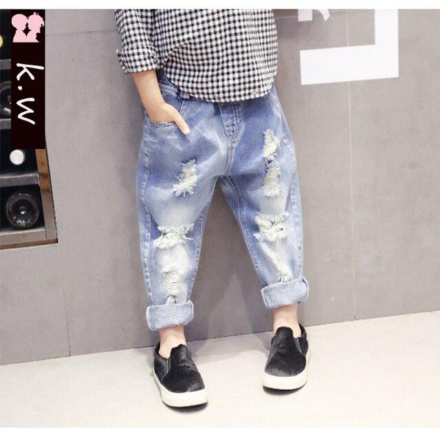 Дети джинсы девочки джинсы КВТ новый джинсы весна девушки одежда брюки для девочек 2017 прибытие брюки