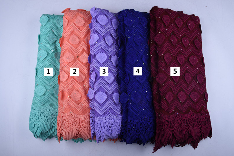 Newest Applique Milk Silk African Lace Fabric High Quality French Lace Fabric Nigerian Tulle Lace Fabric For Wedding Dress A1577
