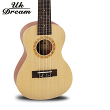 23 Inch 17 Frets Ukulele Arched Acoustic Guitar Spruce Surface Sapele 4 Strings Small Guitar Professional Musical Instruments 23 inch acoustic guitar 17 frets ukulele vintage musical instruments 4 strings guitar spruce mahogany veneer ukelele uc 54a