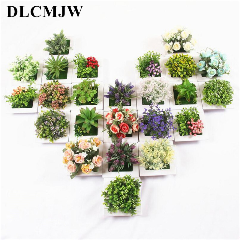 artificial plant bonsai  photo frame wall hanging decor fake plantbonsai plastic flower for home decor artificial plant bonsai