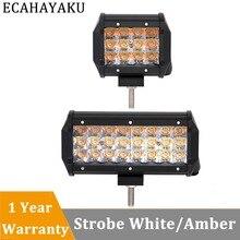 цена на ECAHAYAKU 1x 36W 72W 4inch 6.5inch 5 light types led work light bar 12V 24V Offroad tractor Car Truck SUV ATV 4X4 4WD Trailer