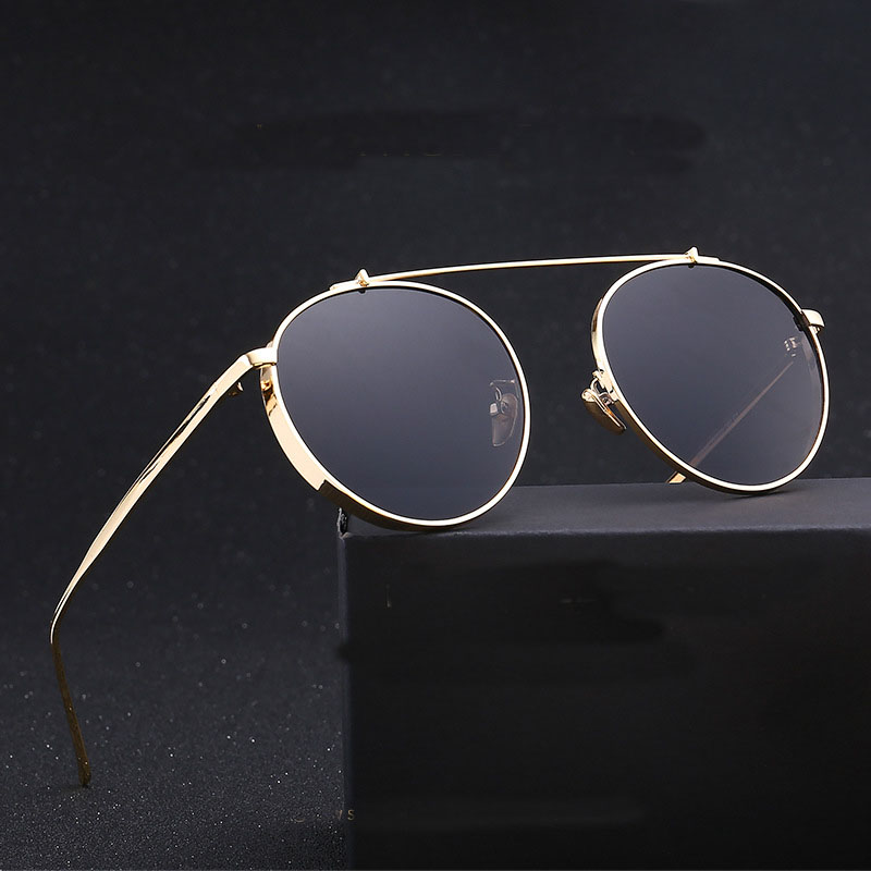 Steampunk Goggles Women Carter Round Sunglasses Brand Female Lunette Sun Glasses Driver Shade Colorful Lens Eyewear oculos