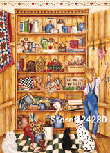 Needlework,Neat lockers Cross sttich Handmade Shelf 14CT Counted Canvas DIY,Cross-stitch kits,For Embroidery Art Home Decor